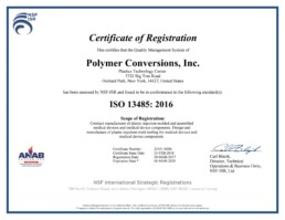 iso-13485: 2016 Polymer Conversions - PCI Certification