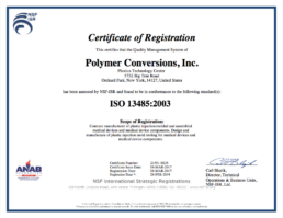 Polymer Conversions - ISO 13485